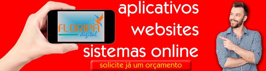 desenvolvimento de aplicativos, websites e sistemas online